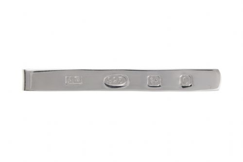 Tie Bar Sterling Silver Hallmark FeatureTie Clip